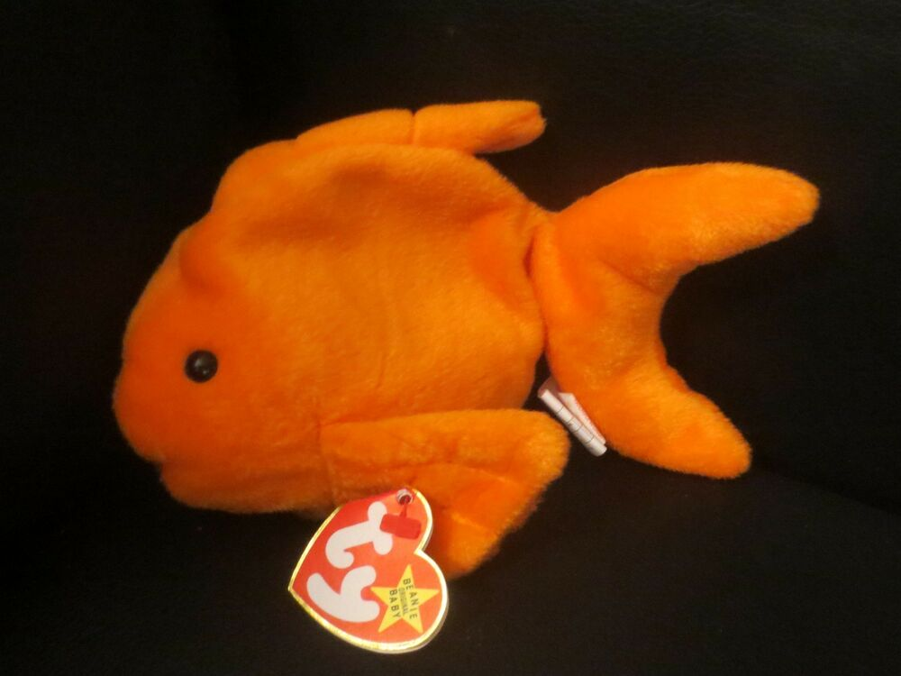 19c1b2e09f5 Details about Ty Beanie Baby Goldie the Goldfish 4th Generation PVC Filled  Canadian Double Tus
