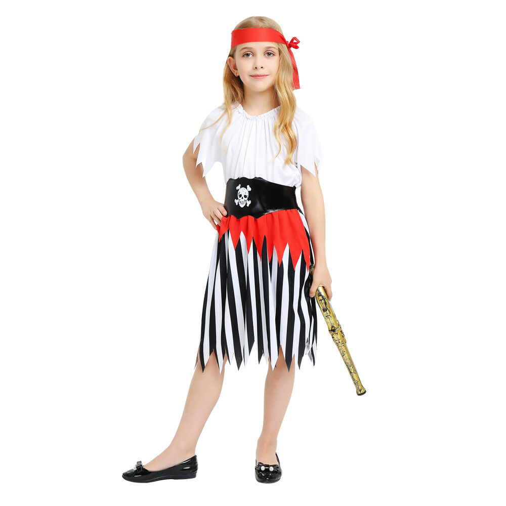 e6ae46dd5f84 Details about Ordinary Style Girl's Pirate Dress Up Kids Costume Cosplay  Halloween Party Outfi