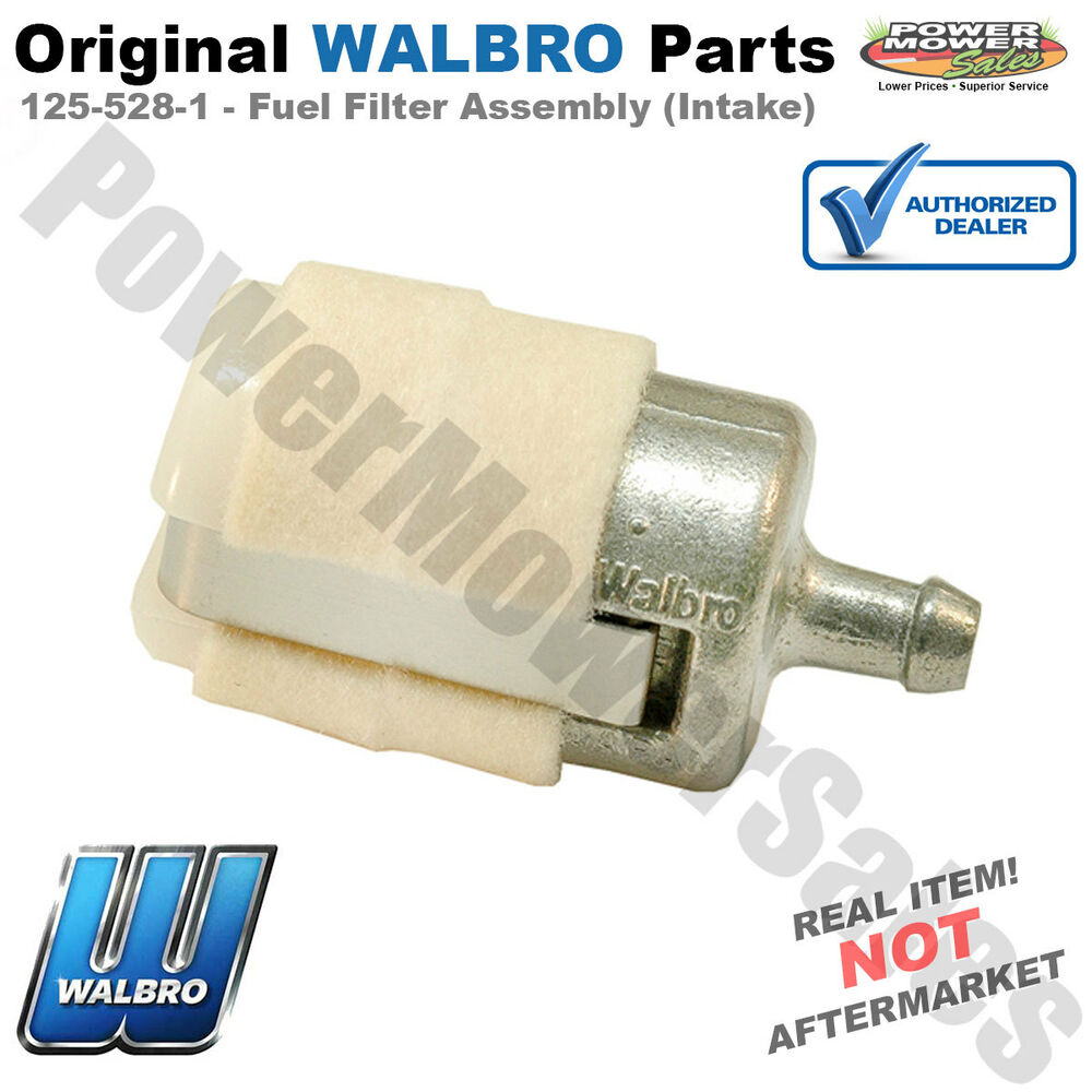 details about genuine walbro fuel filter assembly (intake) / 125-528-1