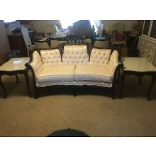 Kimball French Provincial Style Couch Loveseat And Chair Set With Two End Tables