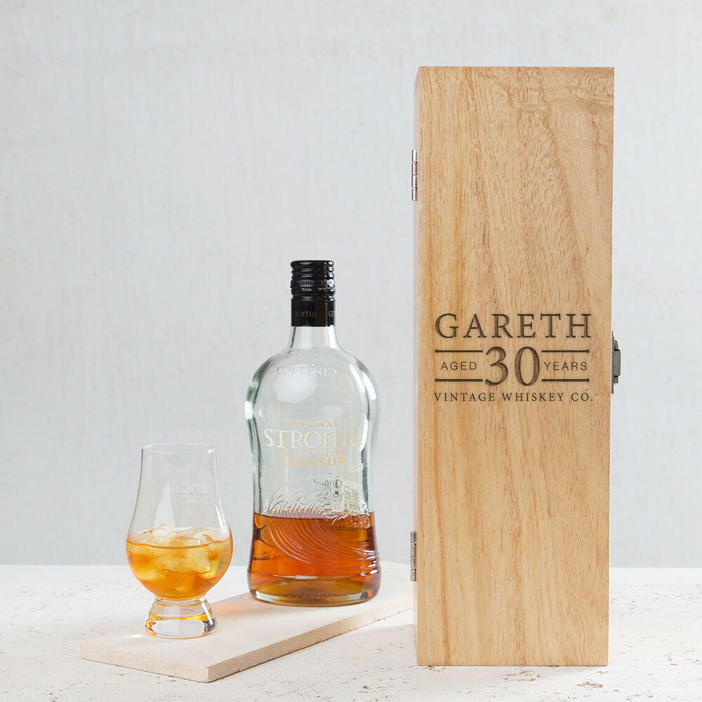 Details About Personalised 30th Birthday Gift For Men Him Male Engraved Wood Wine Alcohol Box
