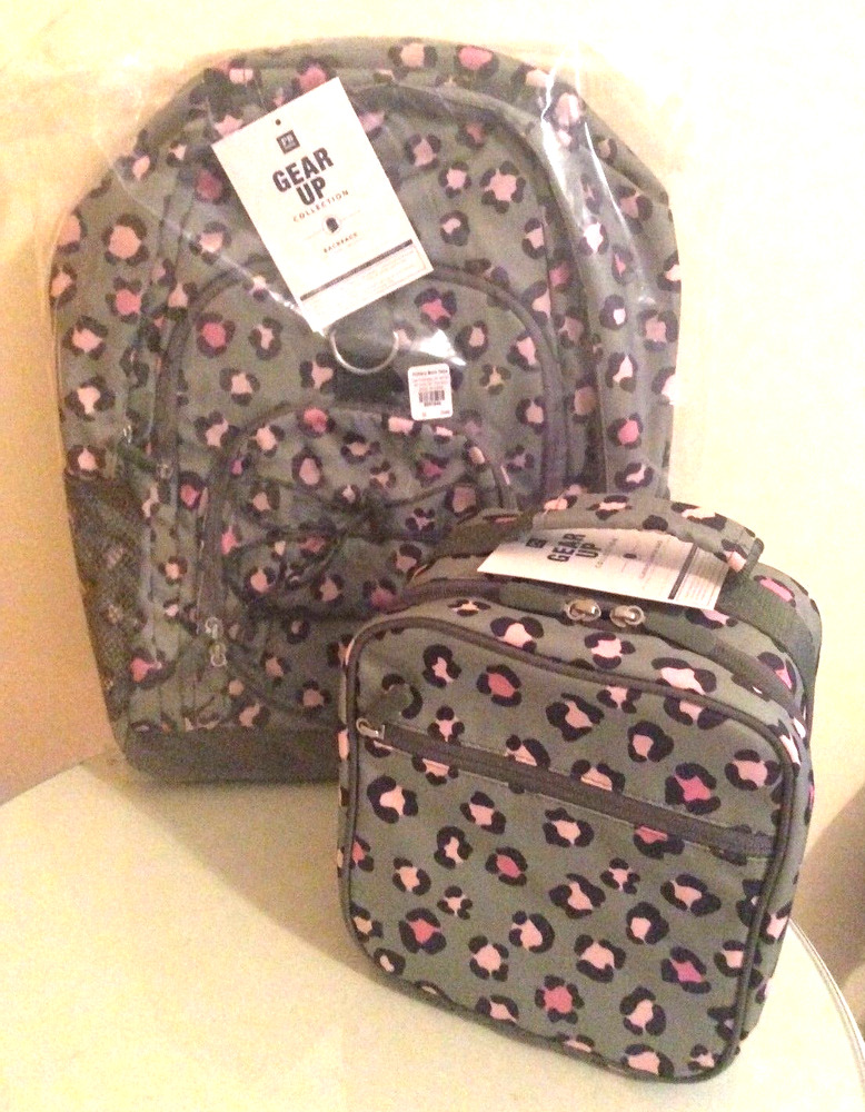 91 Pottery Barn Leopard Backpack Lunch Box Bag School