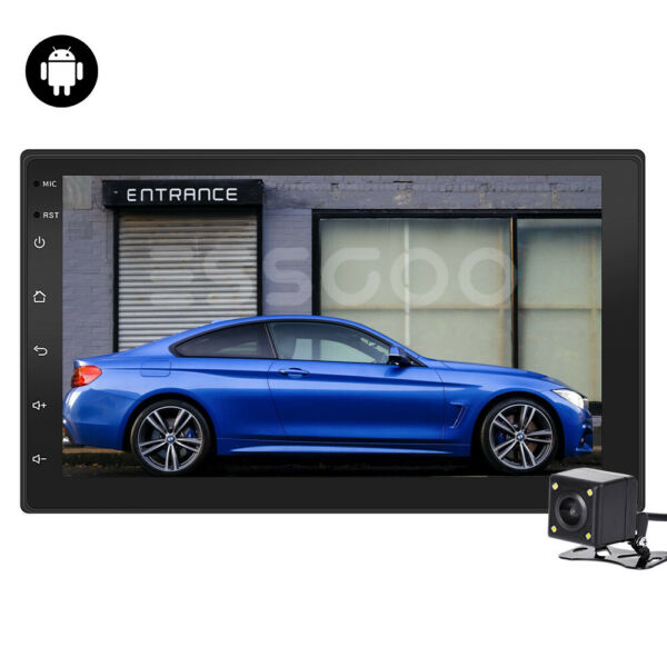 2 Din 7'' Car Autoradio Android 9.1 Navigatore GPS Bluetooth WIFI USB/FM Mirror