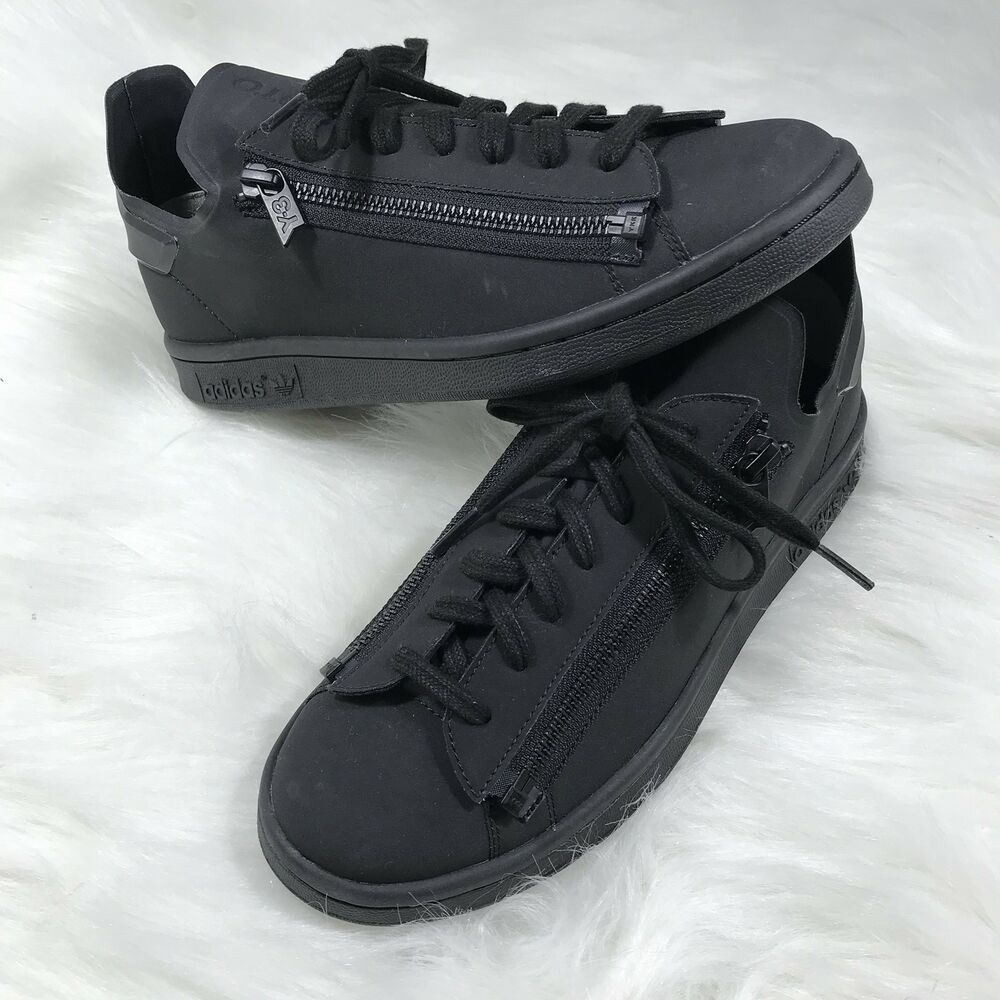 946d2829d79d Details about Adidas Y-3 Y3 Stan Smith Yohji Yamamoto Black Zipper Sneakers  CG3207 Shoes H1h