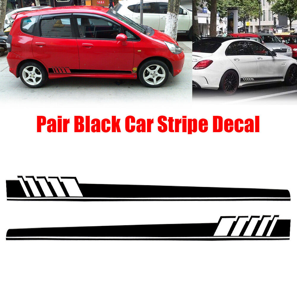 Details about 1 pair car suv vinyl graphic car body sticker side decal stripe decals new