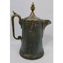 Antique 1854 Ornate Reed And Barton Stimpson's Double Walled Water Pitcher