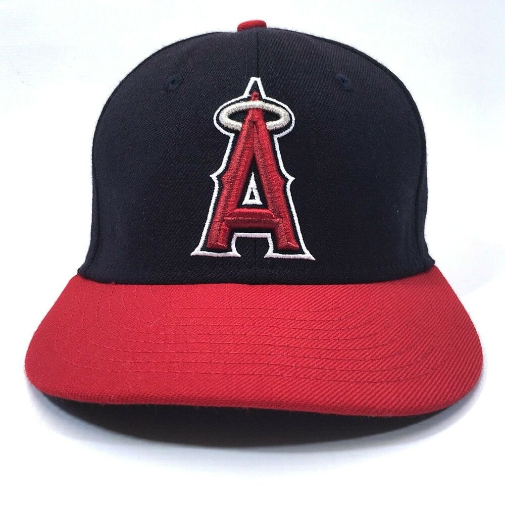 Los Angeles Angels Baseball Hat MLB NewEra 100% Wool Fitted Cap Size 6 7 8  c6  6c7d23a5530