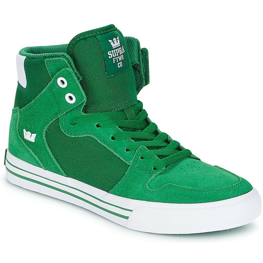 Details about NEW SUPRA VAIDER GREEN WHITE 08044-301 SKATEBOARDING SHOES 15 4ca46fa931c7