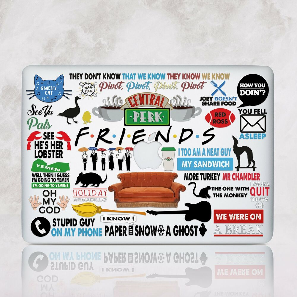 Friends Macbook Pro 13 15 Retina Top Bottom Print Case Tv