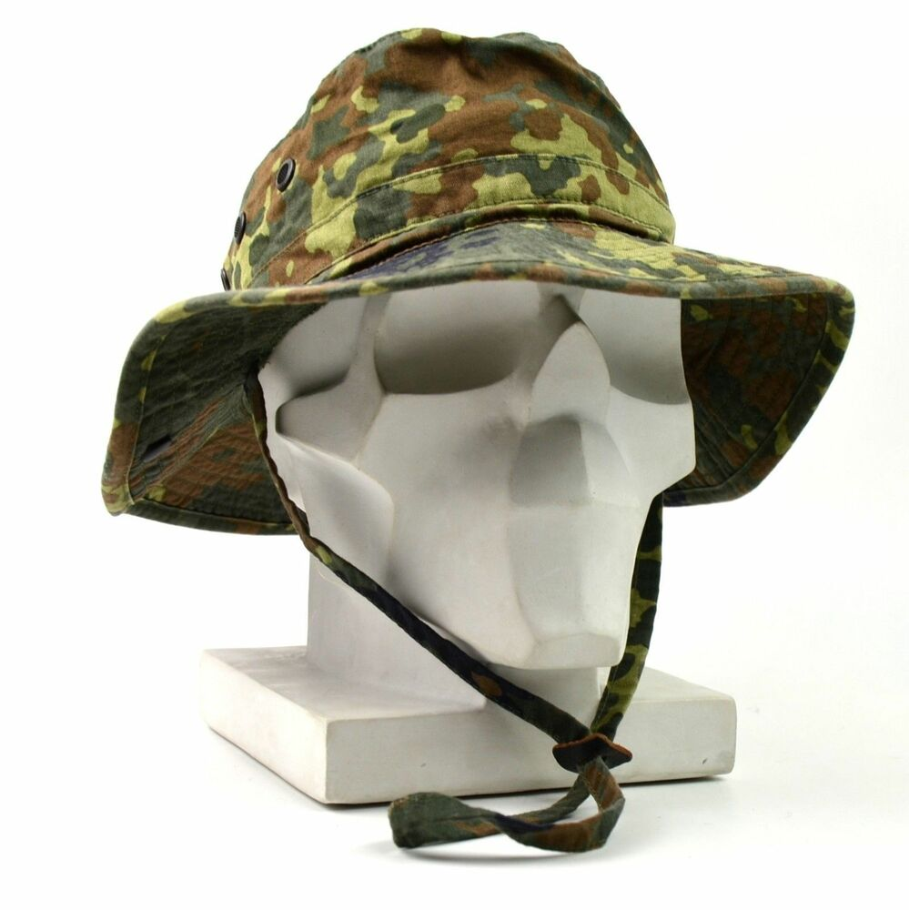 1500dccefe0 Details about Genuine ORIGINAL GERMAN ARMY BOONIE HAT Flecktarn field  tactical military cap