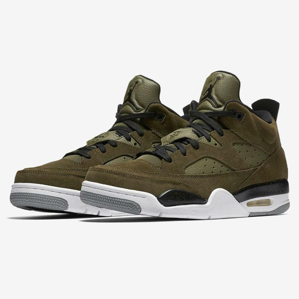 outlet store f0e8d 197eb Details about AIR JORDAN SON OF MARS LOW 580603 300 OLIVE CANVAS  GREEN WHITE BLACK