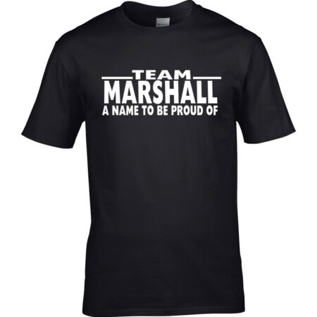 img-Men's Family Name MARSHALL T-Shirt Surname Team ADD ANY NAME CAN BE AMENDED