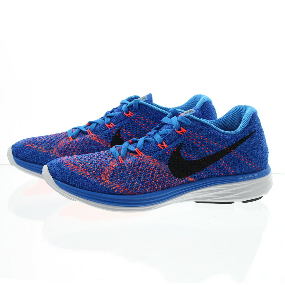 b27fd5adda0977 Details about Nike 698181-405 Mens Flyknit Lunar3 Athletic Performance Running  Shoes Sneakers