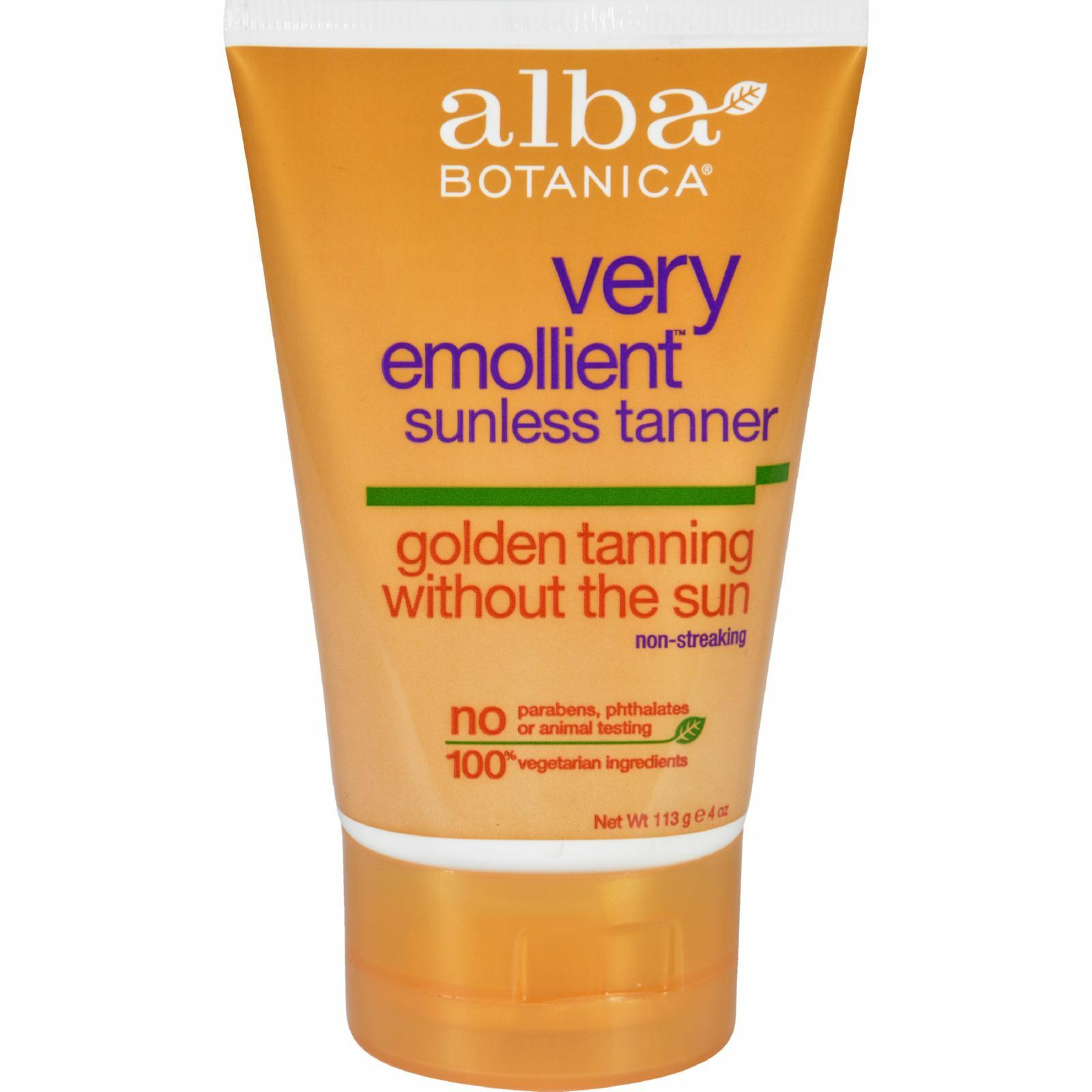 Alba Botanica Very Emollient, Sunless Tanning Lotion, 4 Ounce