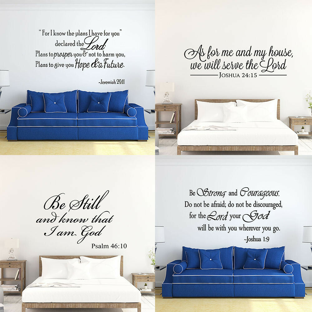 Bible Verse Wall Decals Christian Quote Vinyl Wall Art