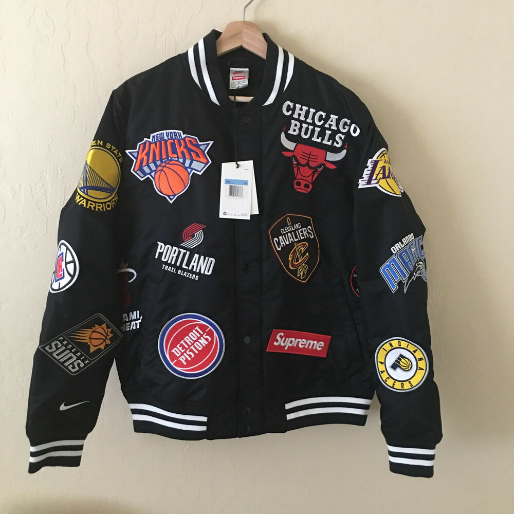 51ae5b3e8 Details about SUPREME NIKE NBA Teams Warm Up Varsity All Star M Box Logo  Warriors Lakers NEW