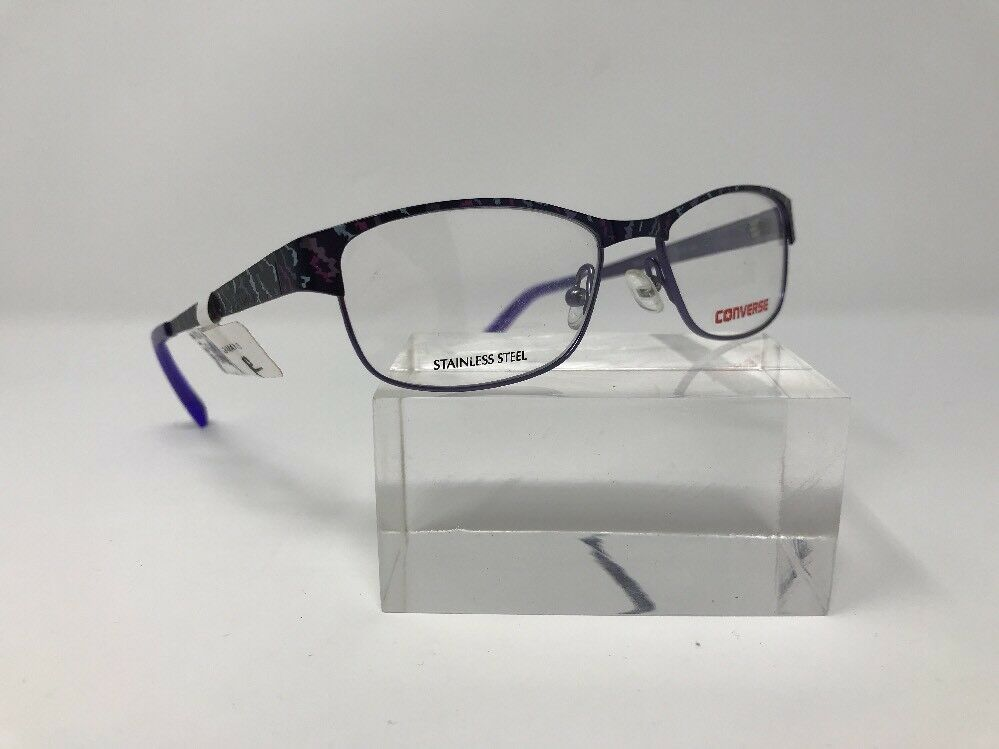 4ee9021a81a Details about Converse Eyeglasses Kids K014 47-15-130 Purple Stainless  Steel L388