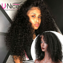 Lace Front Wig Afro Kinky Curly Wig Brazilian Remy Human Hair for Black Women16''