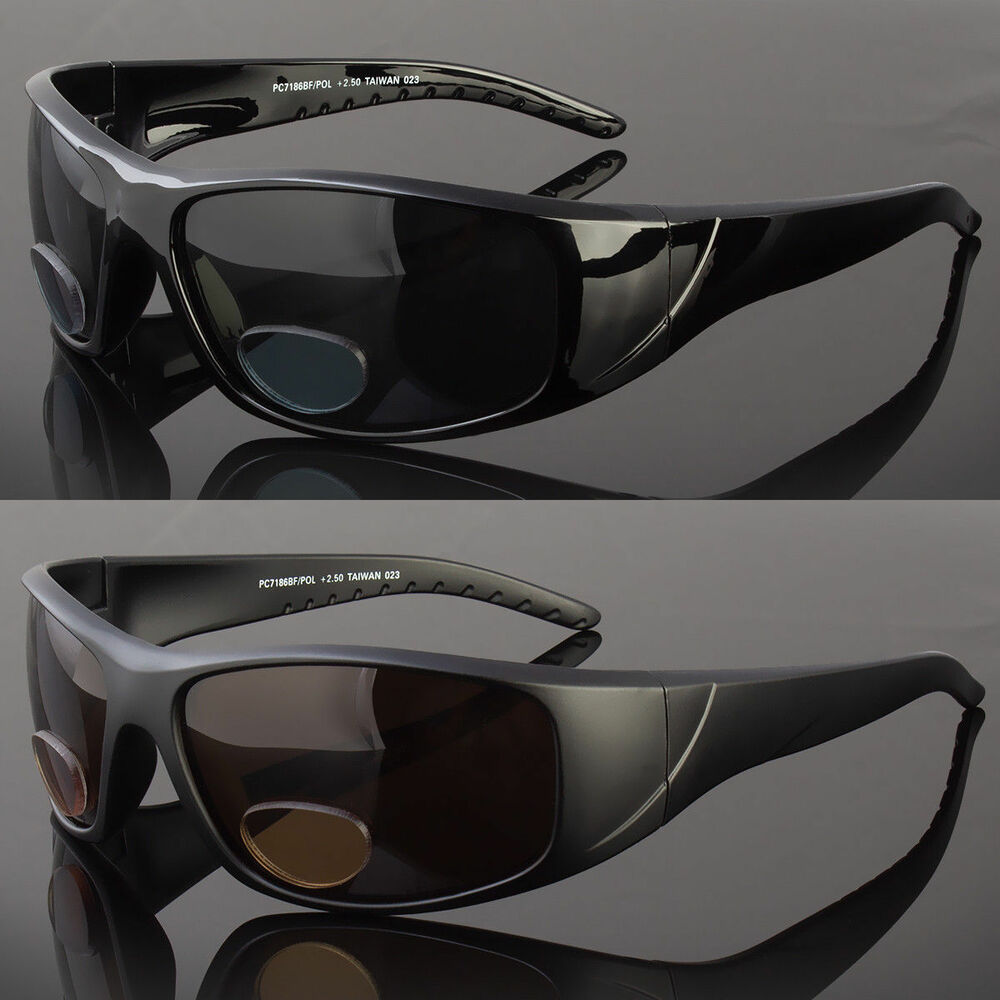fede58ab15449 Details about Polarized BIFOCAL Wrap Around Sunglasses Mens Womens Fishing  Glasses Reading