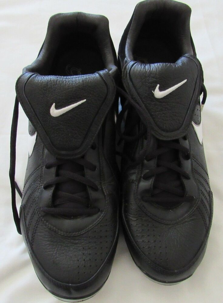890dd6f57b5e Details about Nike Air Zoom Pro Tradition Black White Baseball Cleats  330059 012 Size 13