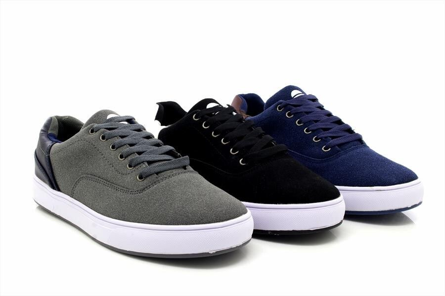 d52ffe0120 Details about Mens New Attwood Deluxe Canvas Skater Shoes Summer Trainers