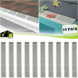 Kyпить PACK OF SNAP-IN WHITE GUTTER GUARD COVER SCREEN DEBRIS LEAF PROTECTION 3FT UNITS на еВаy.соm