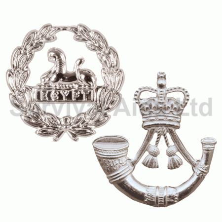 img-RIFLES Other Ranks Metal Cap and Back Badge