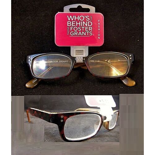 2-pair-foster-grant-retro-classic-channing-reading-glasses-spring-hinge-msrp40