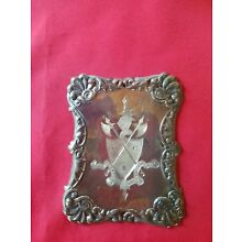 ANTIQUE KNIGHTS OF PYTHIAS CASKET PLATE PLAQUE COFFIN FUNERAL SILVERPLATE