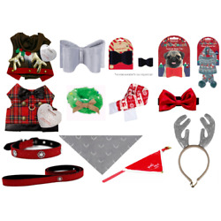 DOG PET PUPPY CHRISTMAS DRESS UP ACCESSORIES FESTIVE PROPS HATS SCARVES COLLARS