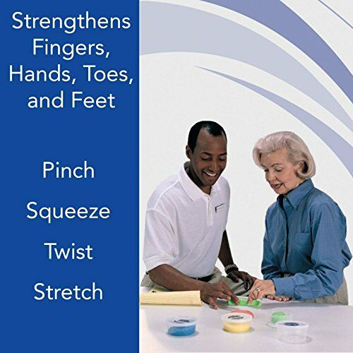 Sammons Preston Therapy Putty For Physical Therapeutic Hand Exercises, Flexible