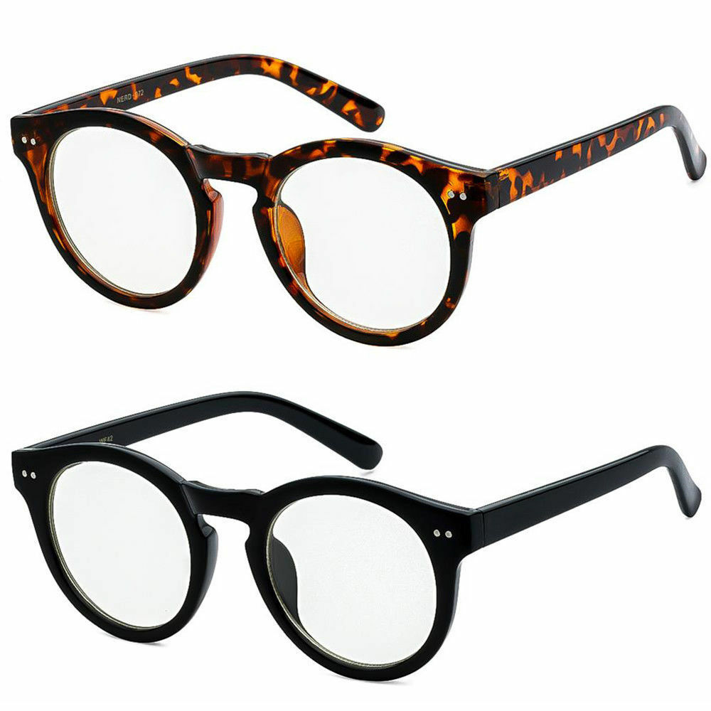 095a20349c Details about Men Women Unisex Nerd Hipster Glasses Clear Lens Eyewear  Retro Oval Round Frame