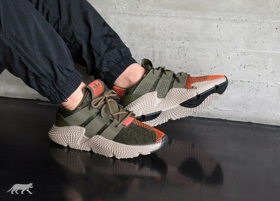 f2e16e99b657 Details about ADIDAS ORIGINALS PROPHERE CQ2127 MEN CASUAL SHOES TRACE OLIVE  SOLAR RED