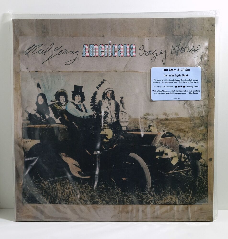neil young with crazy horse americana 180 gram vinyl 2xlp sealed etching ebay. Black Bedroom Furniture Sets. Home Design Ideas