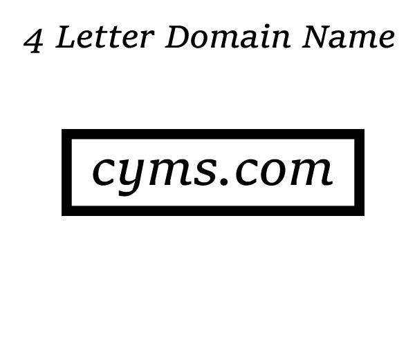 Details about CYMS.com 4 LETTER DOMAIN NAME Very Rare and Easy to Brand!