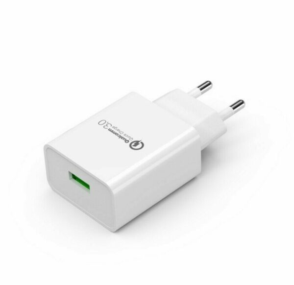 CARICABATTERIA Rapido FAST CHARGER 3.0 Quick Charge 3.0 [Certificato Qualcomm]