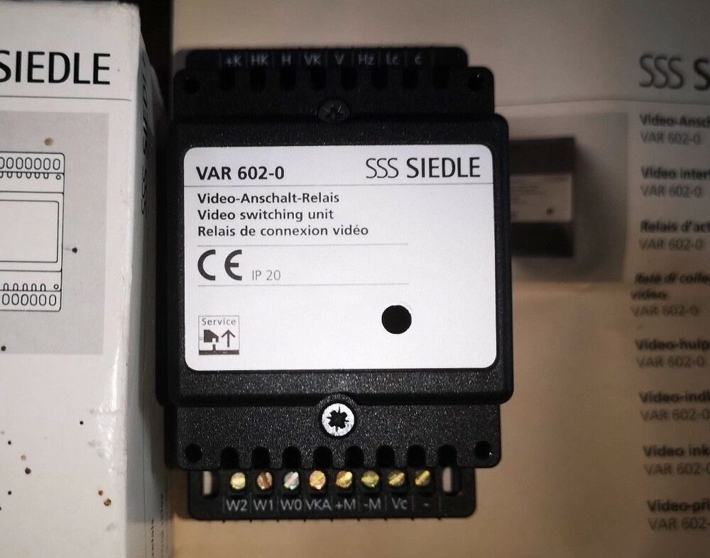 sss siedle var 602-0 video switching unit for siedle intercom system