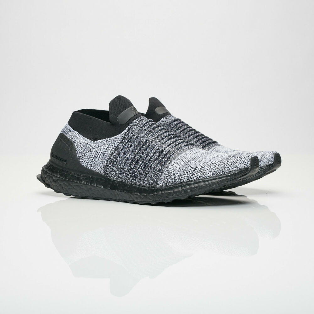 31a9d69253d Details about (BB6137) Men s Adidas Ultraboost Laceless Core Black