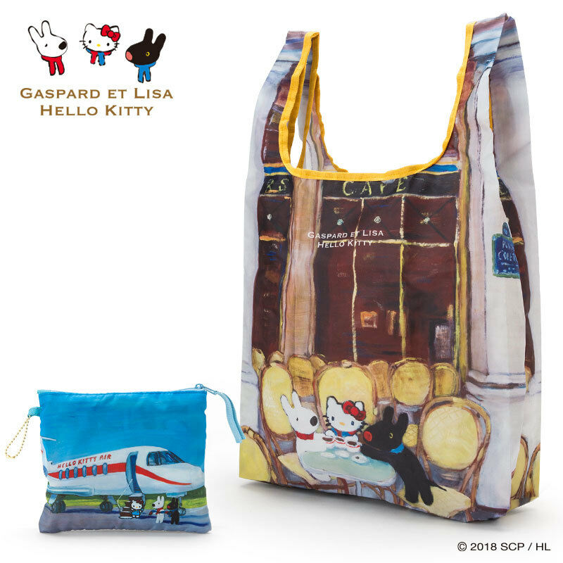 cf7502f9cce8 Details about GASPARD ET LISA x Hello Kitty Sanrio My bag Eco bag (Cafe)  Japan New Free Ship