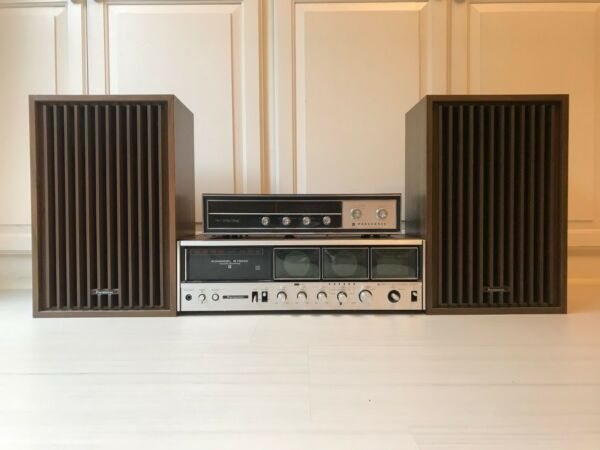 Vintage Panasonic 8-Track Receiver & Speakers RE-8840 & RE 7671 AM/FM Stereo
