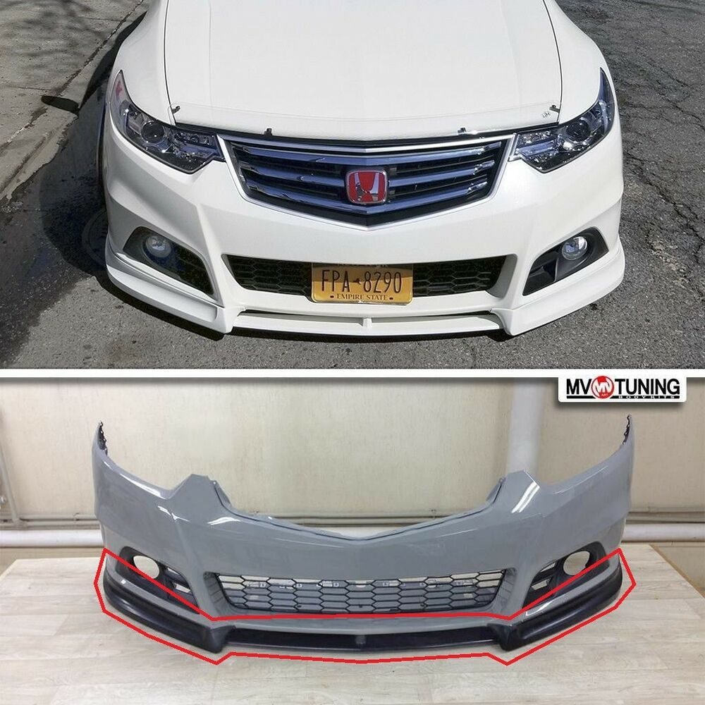 front lip for modulo bumper for honda accord 8 viii. Black Bedroom Furniture Sets. Home Design Ideas