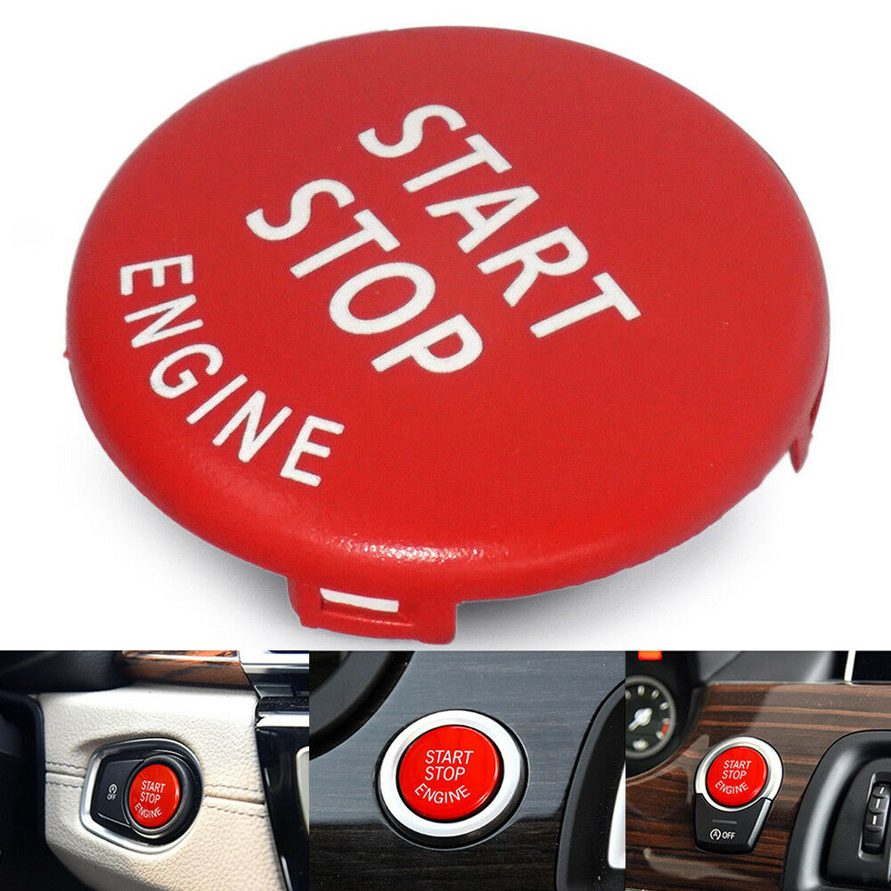 Red Engine Start Stop Switch Button Cover Fits BMW E60 E70