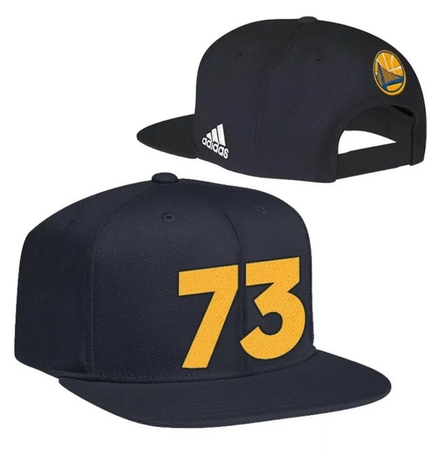 "edc5d6e20d5aa Details about  40 Adidas Golden State Warriors ""73"" Hat Cap Snapback Black  NWT Authentic!"
