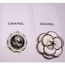 Lot of 2 VIP gift Chanel Flower Pin Brooch (Damaged)