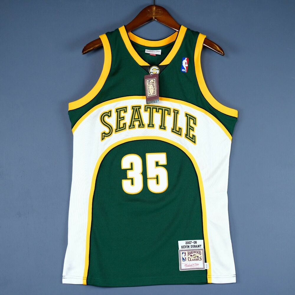5a22efba61e Details about 100% Authentic Kevin Durant Mitchell Ness Sonics NBA Jersey  Size 40 M