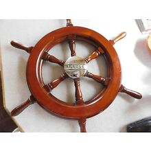 Vintage Trojan Wood Ship Wheel
