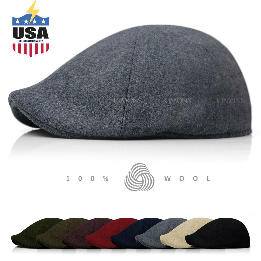 2536e55df477e7 Details about EH 100% Wool Gatsby Solid Cabbie Ivy Hat Cap Golf Flat  Driving Newsboy winter