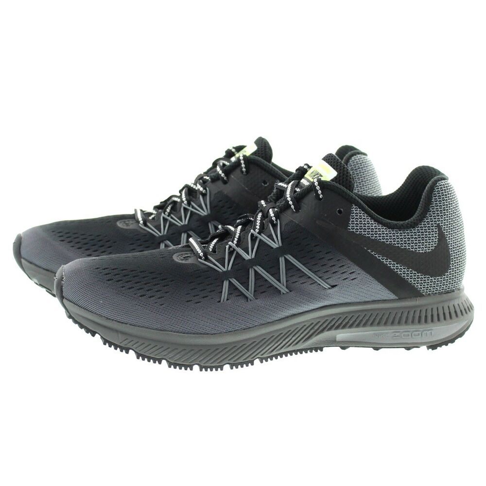 bb044d8c6d19 Details about Nike 852441 001 Mens Air Zoom Winflo 3 Water Resistant Running  Shoes Sneakers
