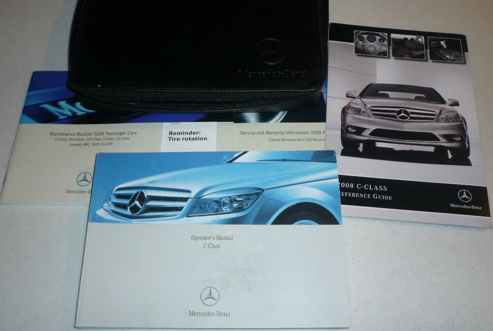 mercedes benz c class 2008 owners manual