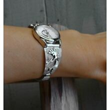 Navajo Kokopelli Silver Women's Watch Tips